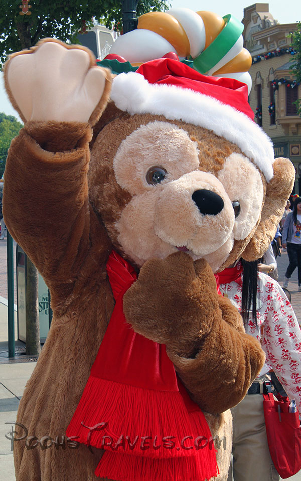 Duffy arriving for his first day as a new Disney character in Hong Kong