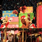 Mickey, Minnie, and Duffy during the Procession of Toys